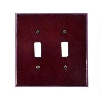 Rosewood 2 Toggle Wall Plate