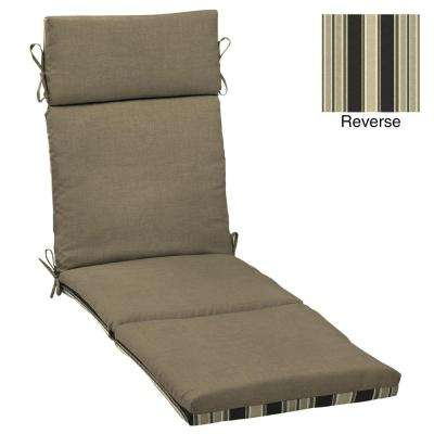 Sandstone Leala Texture Outdoor Chaise Lounge Cushion