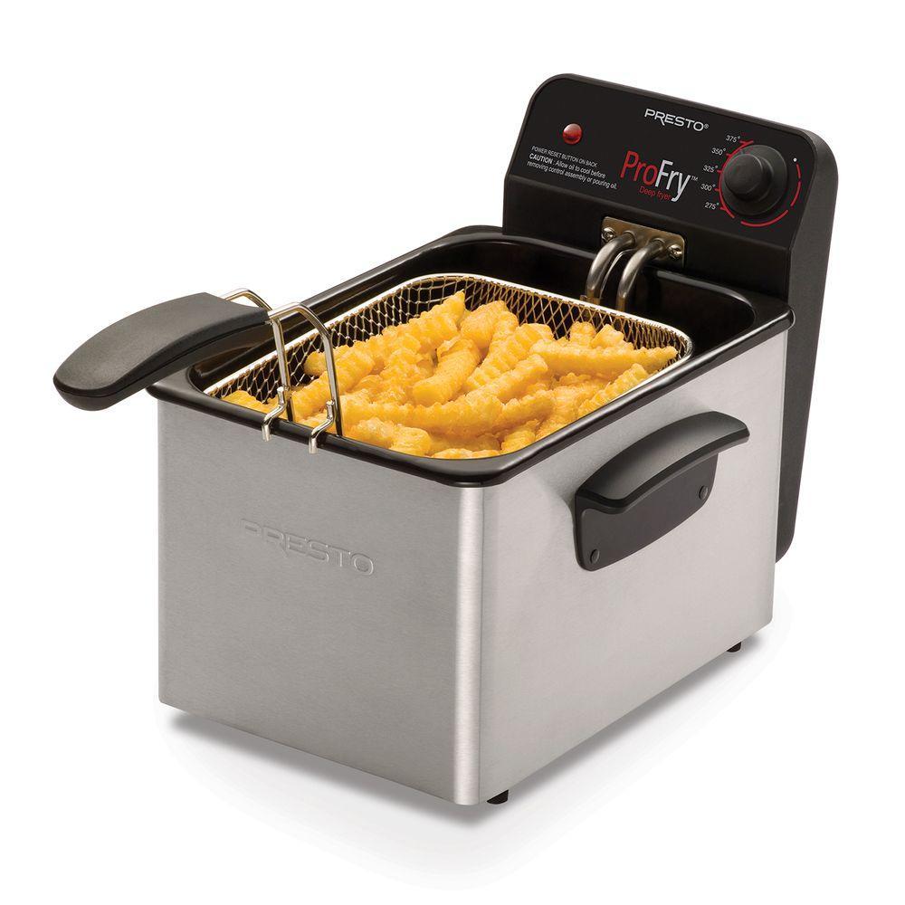 Presto Stainless Steel Pro Fry Deep Fryer-05461 - The Home Depot