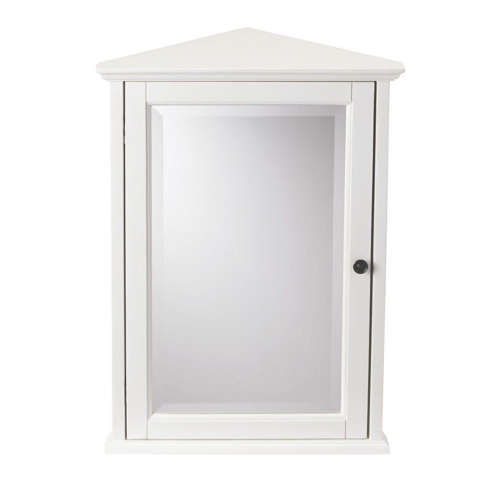 bathroom corner wall cabinet home decorators collection hamilton 20 in w x 27 in h 11456