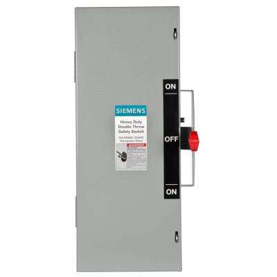 Double Throw 30 Amp 600-Volt 3-Pole Indoor Non-Fusible Safety Switch