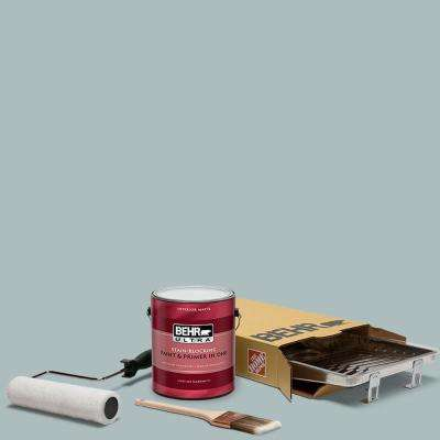 1 gal. #HDC-CT-26 Watery Ultra Matte Interior Paint and 5-Piece Wooster Set All-in-One Project Kit