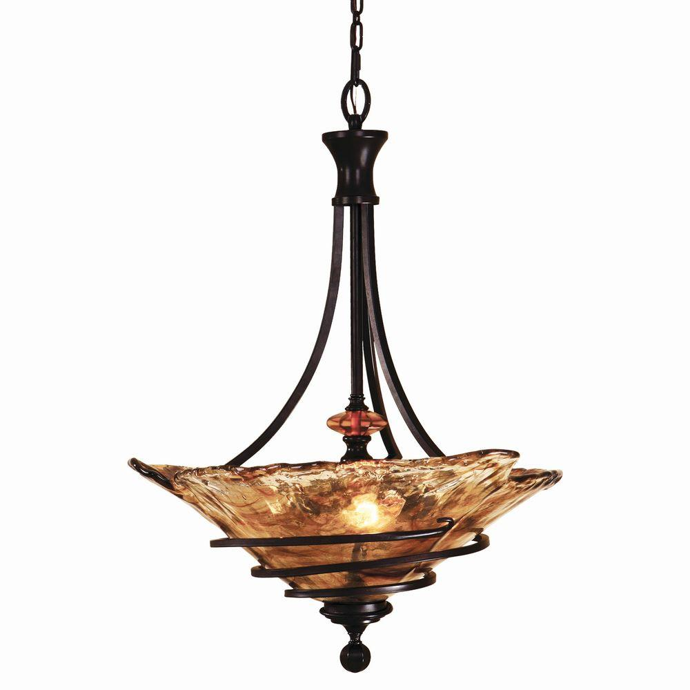 Global direct vitalia 3 light bronze pendant 21904 the home depot global direct vitalia 3 light bronze pendant mozeypictures Images