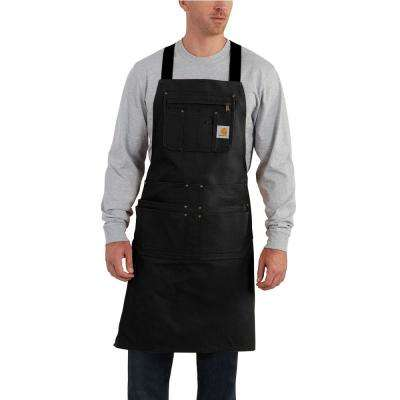 Men's OFA Black Cotton Apron
