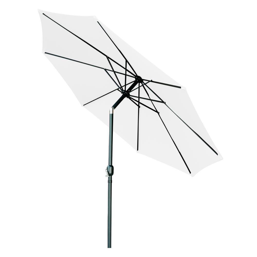 10 ft. Market Tilt Crank Patio Umbrella in White