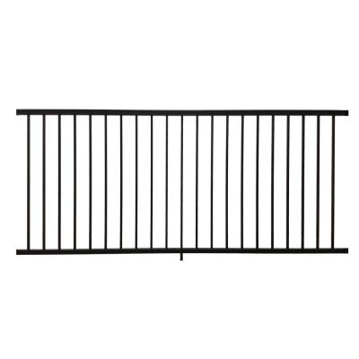 Stanford 36 in. H x 96 in. W Textured Black Aluminum Railing Kit