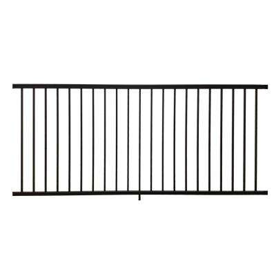 Stanford 36 in  H x 96 in  W Textured Black Aluminum Railing Kit