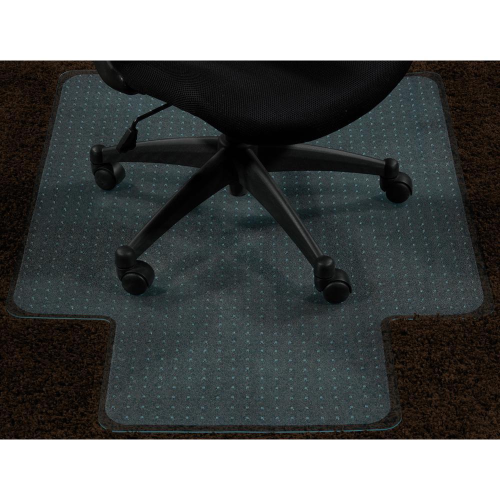 ottomanson super grip clear 36 in x 48 in with lip vinyl carpet