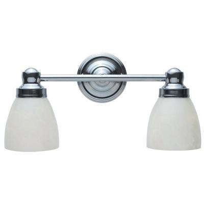 2-Light Chrome Bath Sconce