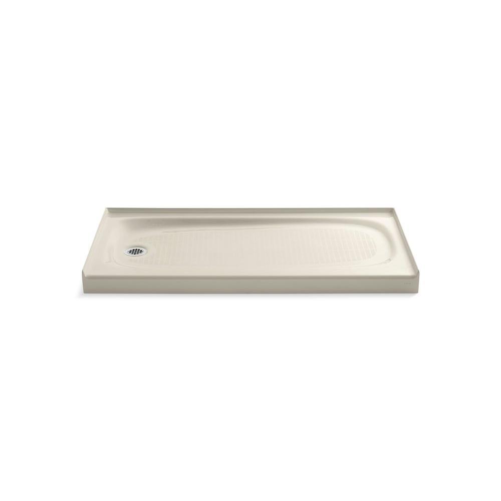 kohler cast iron shower base 60 x 30 KOHLER Salient 60 in. x 30 in. Single Threshold Shower Base in  kohler cast iron shower base 60 x 30