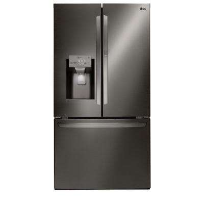 27.7 cu. ft. French Door Smart Refrigerator with Door-in-Door and WiFi Enabled in Black Stainless Steel