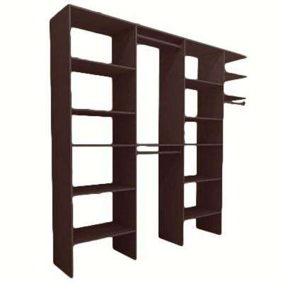 8 ft. to 12 ft. 14.5 in. D x 74.42 in. W x 83.83 in. H Mocha Entry Wood Closet System