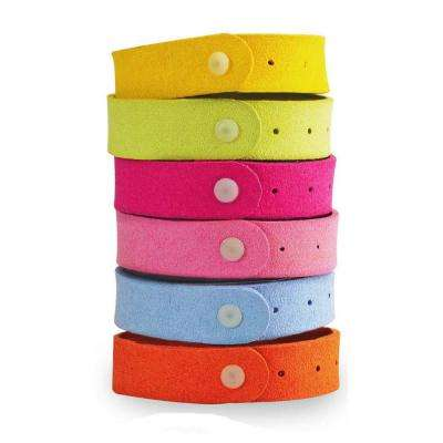 Anti-Mosquito Wristband - Natural Mosquito and Insect Repellent Deterrent Wrist Band/Bracelet (6-Pack)