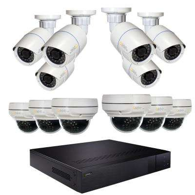 16-Channel 4K 3TB NVR Security Surveillance System with 6 4MP Bullet Cameras and 6 4MP Dome Cameras
