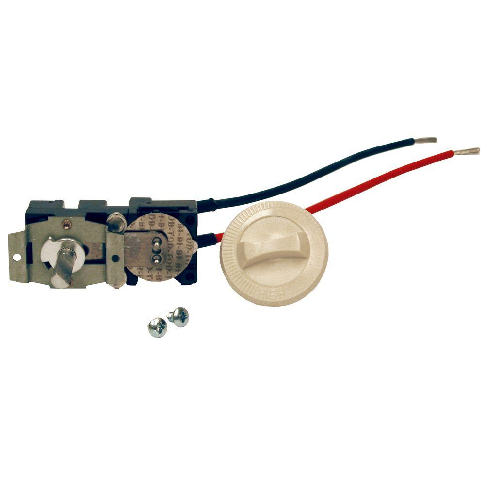 Com-Pak Series Almond Integral Single-Pole 22 Amp Thermostat Kit