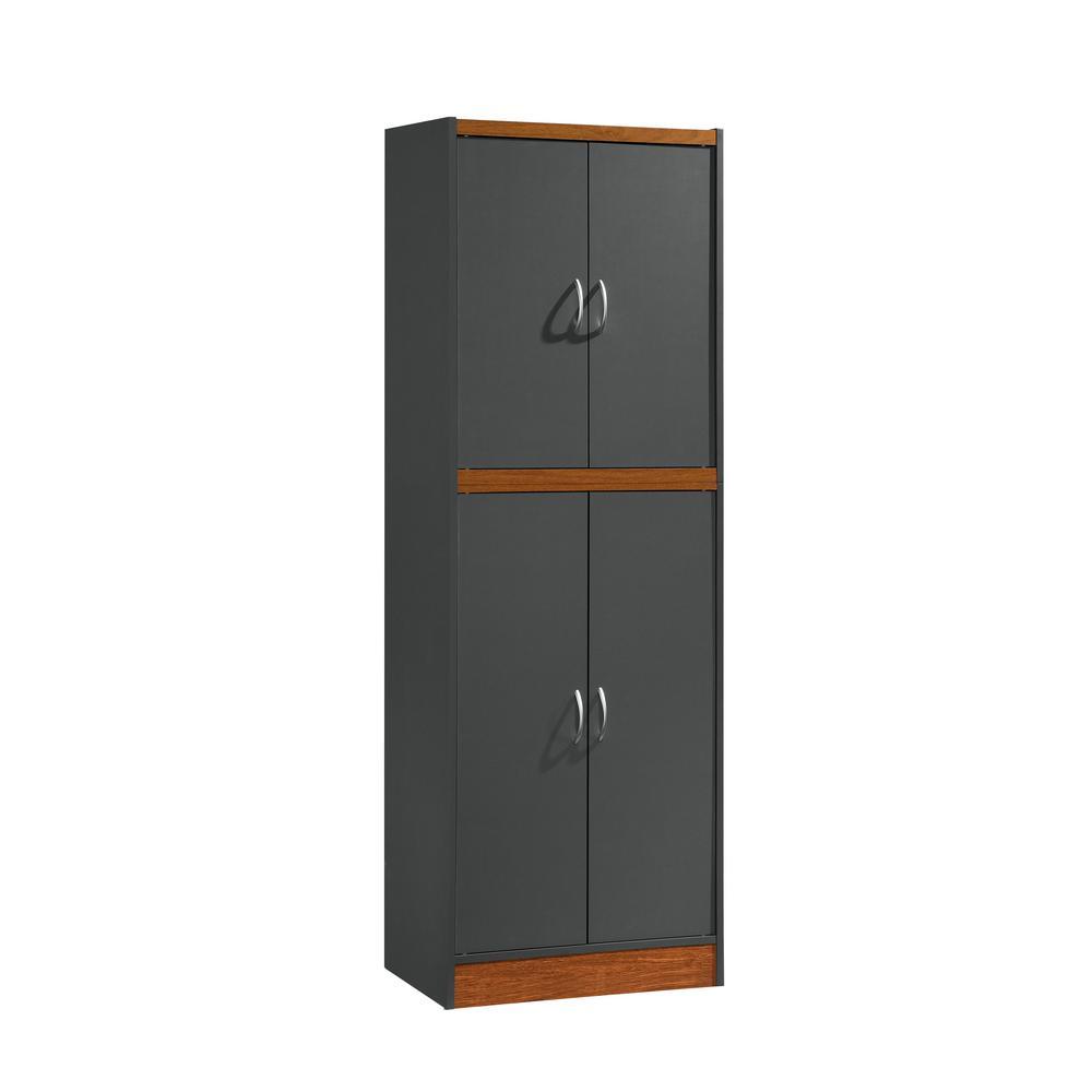 4-Door Grey-Oak Kitchen Pantry