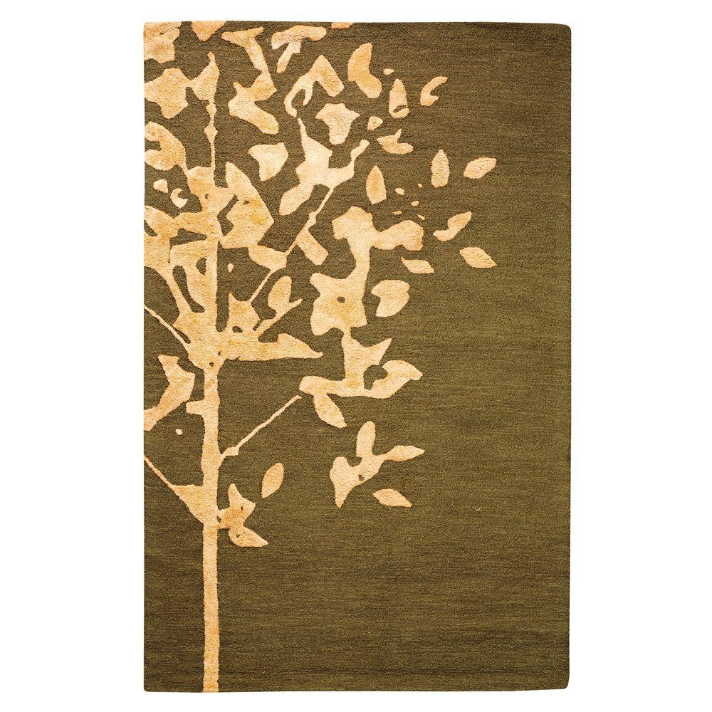 Home Decorators Collection Woodland Brown 8 ft. x 11 ft. Area Rug