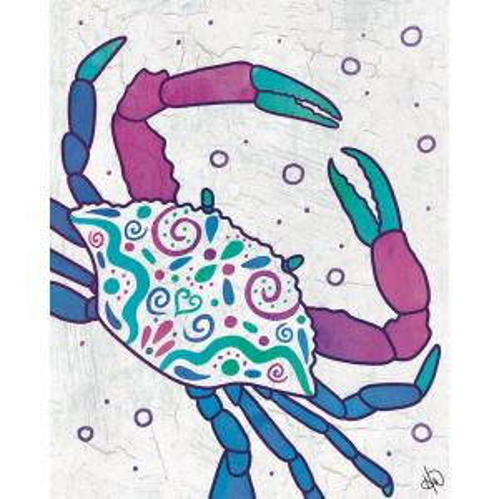 Art Blue Crab Drawing Print