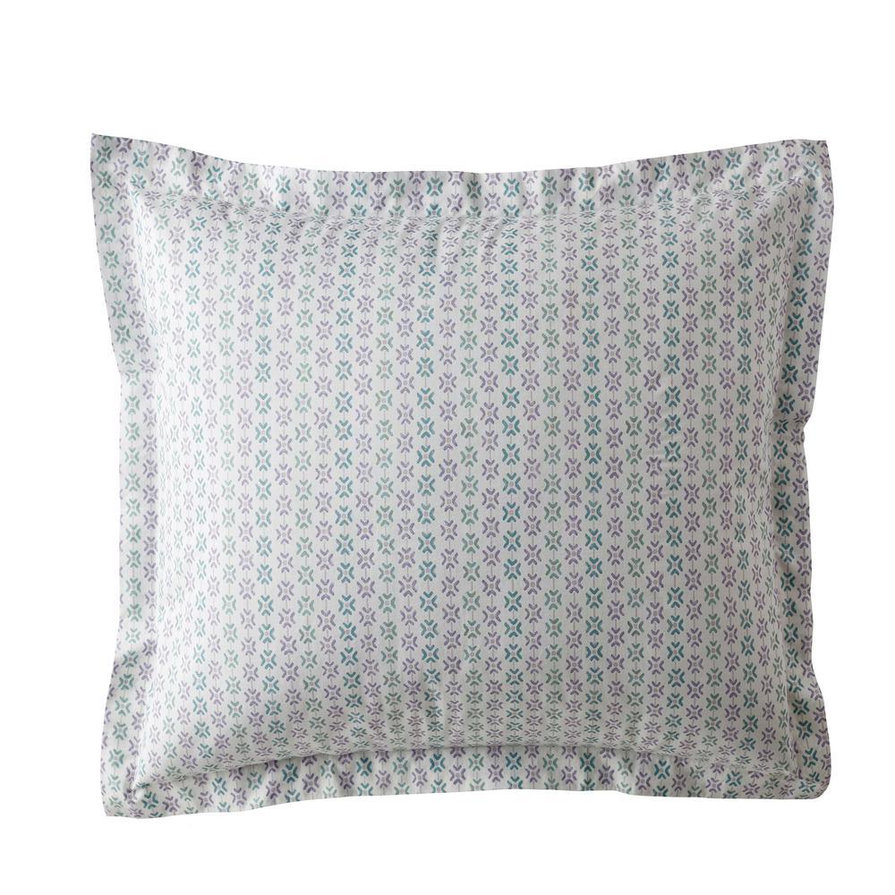 Dana Geo Garment Wash 200-Thread Count Organic Cotton Percale Euro Sham