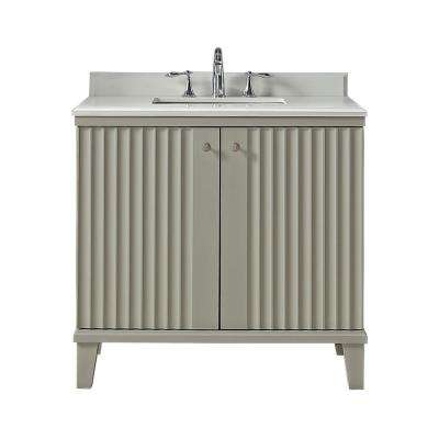 D Vanity In Bedford Grey With Quartz
