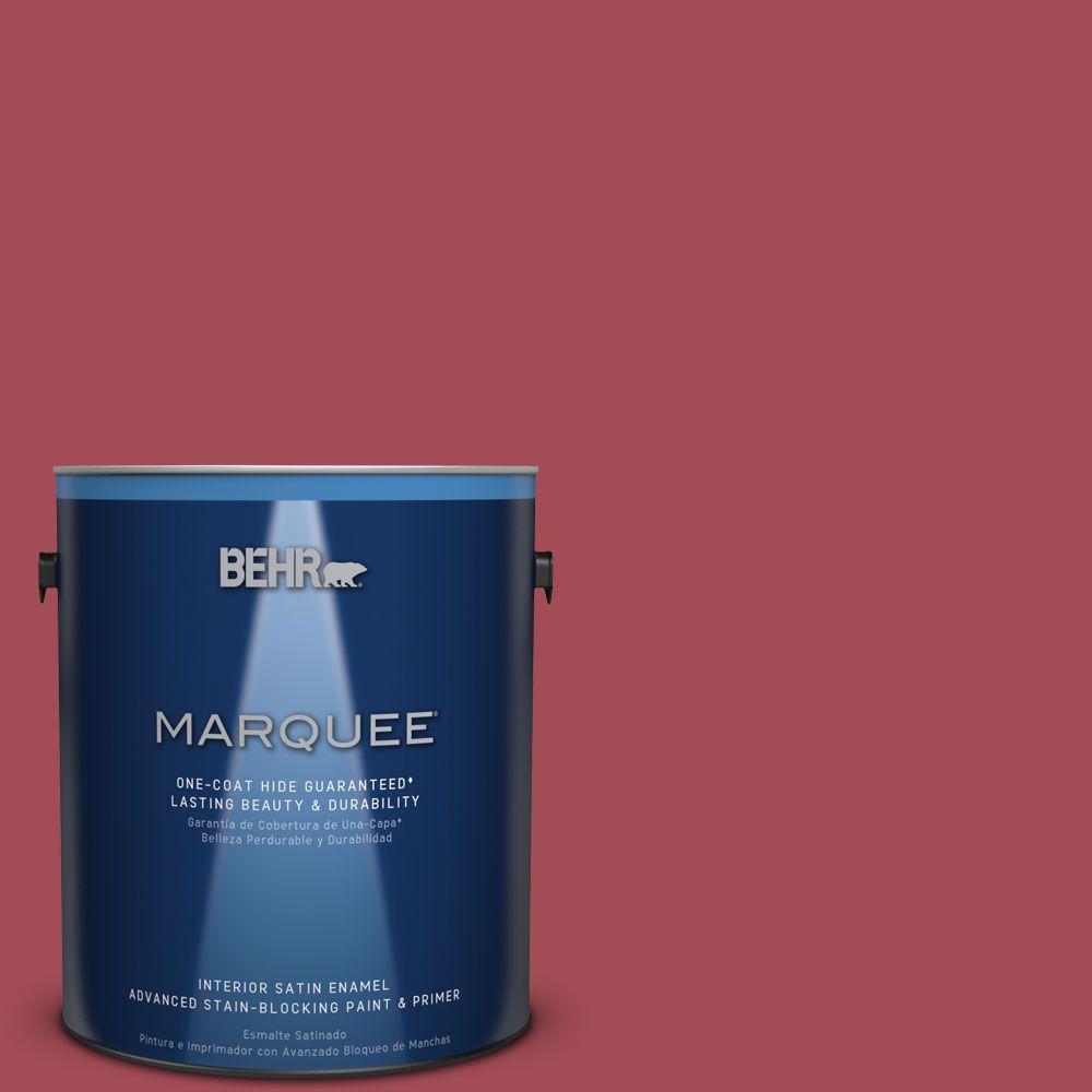1 gal. #HDC-FL15-02 Cranberry Jam Satin Enamel Interior Paint