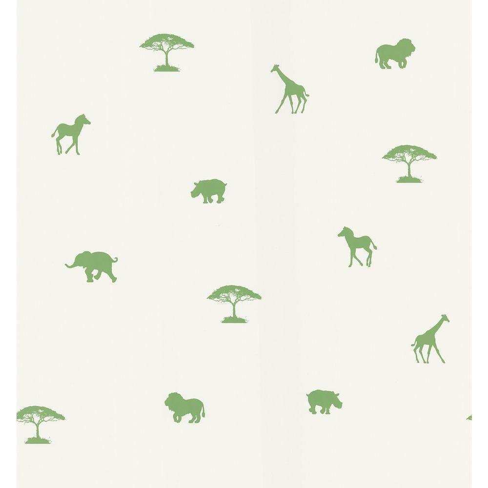 National Geographic Green Animal Spot Wallpaper Sample