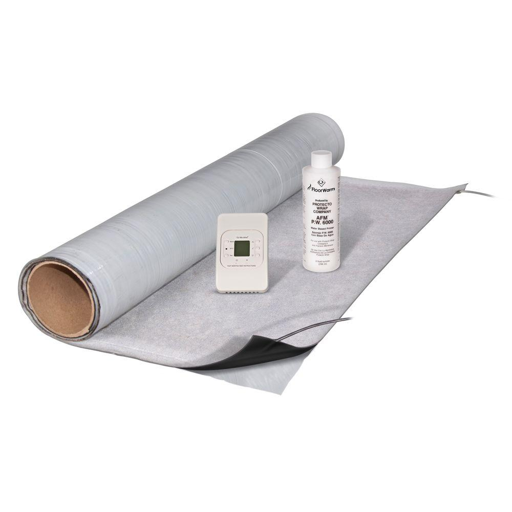 FloorWarm 3 ft. x 7 ft. Under-Tile Heating Kit with Mat, Thermostat and 8 oz. Primer