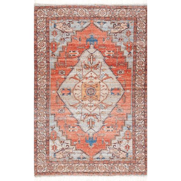 Denisha Distressed Vintage Multi 5 ft. x 8 ft. Area Rug