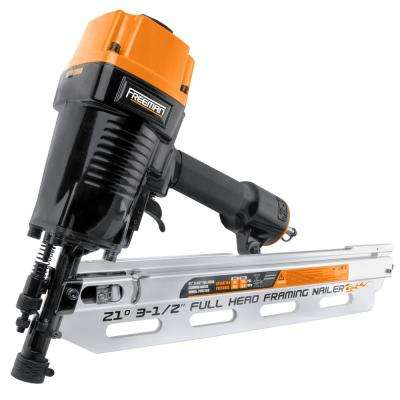 Pneumatic 21-Degree 3-1/2 in. Full Round Head Framing Nailer with Case