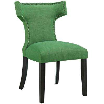 Curve Kelly Green Fabric Dining Chair