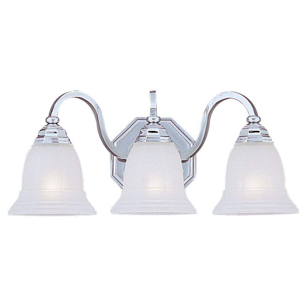 Sea Gull Lighting Blakely 3-Light Chrome Vanity Fixture