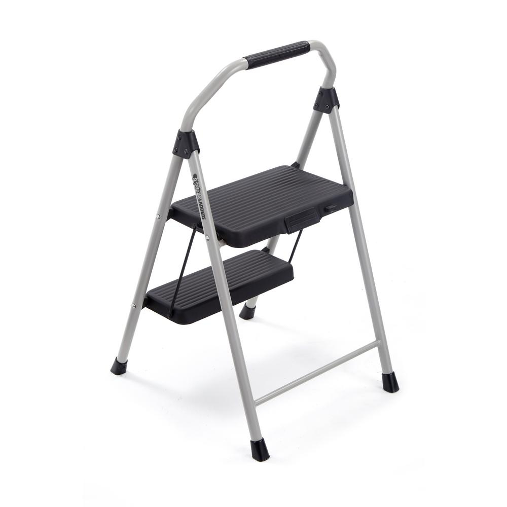 Original 2 Step Compact Steel Step Stool Ladder 225 Lbs