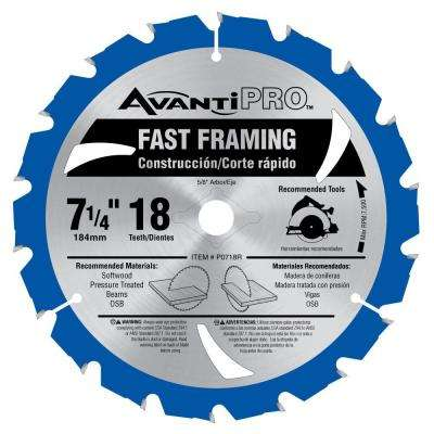7-1/4 in. x 18-Teeth Fast Framing Saw Blade