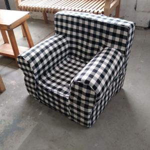 Phenomenal Pdc Furniture Oversize Kids Foam Chair With Black Gingham Andrewgaddart Wooden Chair Designs For Living Room Andrewgaddartcom