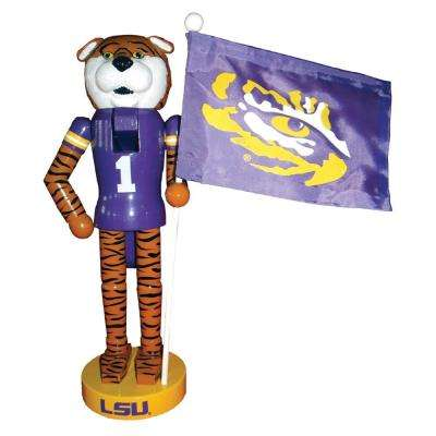 12 in. LSU Mascot Nutcracker with Flag