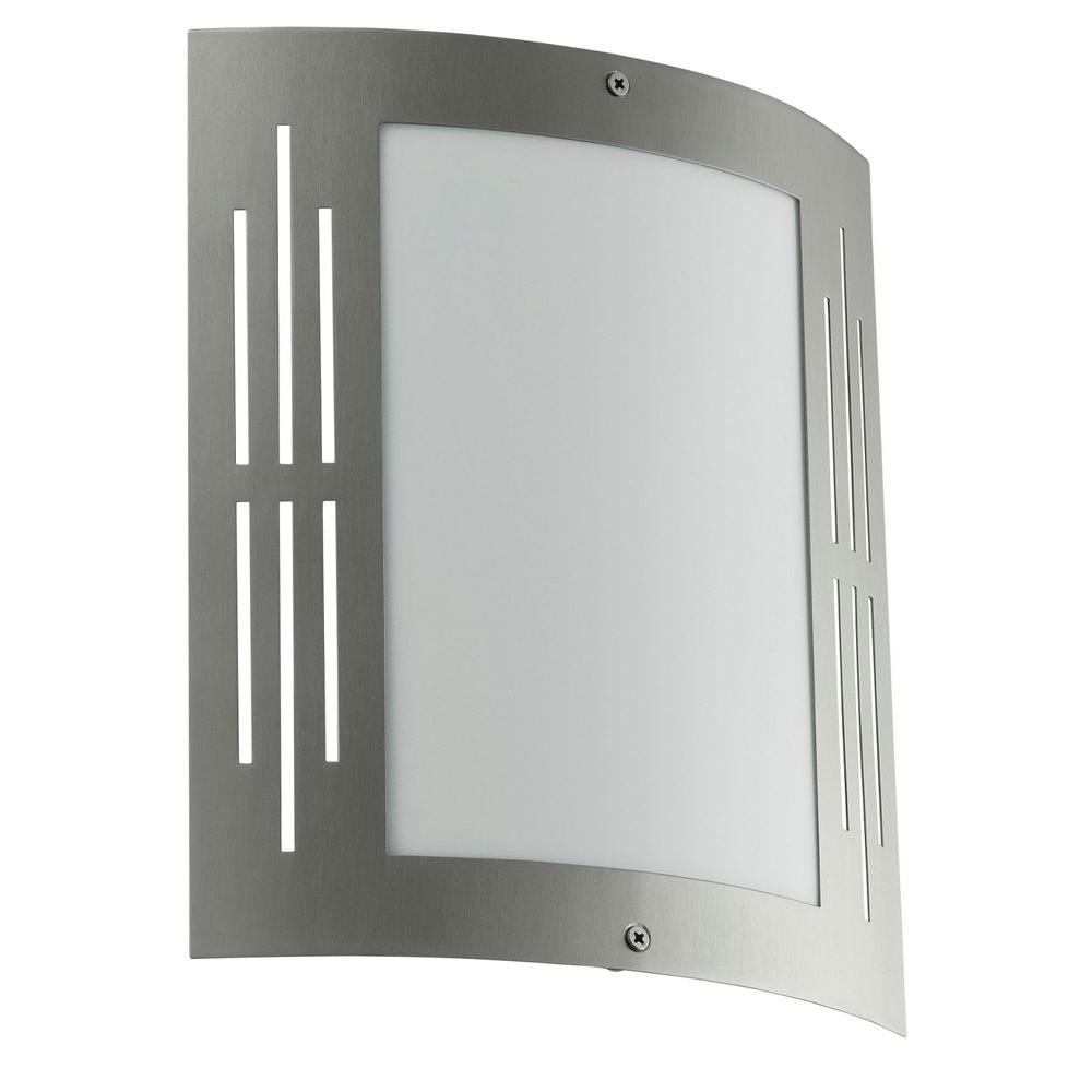 Eglo City Stainless Steel Outdoor Wall-Mount Light Fixture