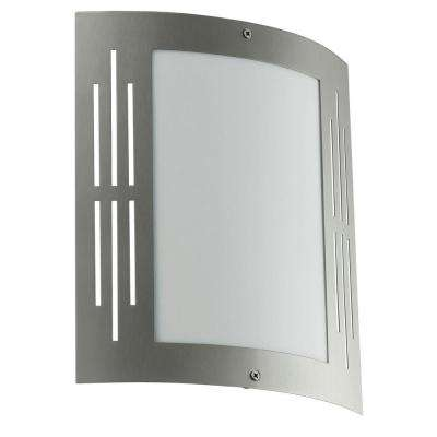 City Stainless Steel Outdoor Wall-Mount Light Fixture