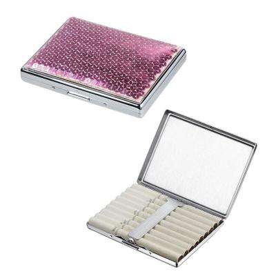 Marley Sequined Pink Cigarette Case