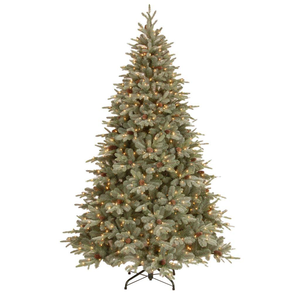 null 12 ft feel real alaskan spruce artificial christmas tree with pinecones and 1200 - 12 Ft Christmas Tree