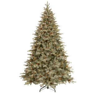 12 ft feel real alaskan spruce artificial christmas tree with pinecones and 1200 clear - 12 Christmas Tree