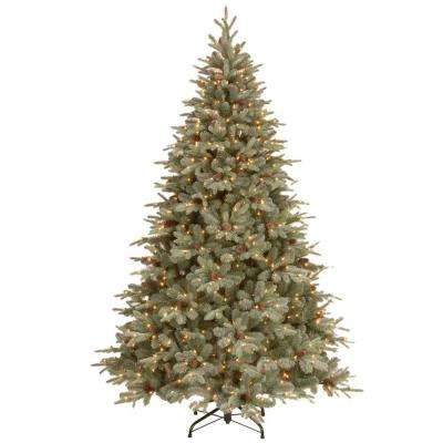 12 ft. Feel-Real Alaskan Spruce Artificial Christmas Tree with Pinecones and 1200 Clear Lights