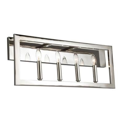 Jordan .75 in. 4-Light Satin Nickel Vanity Light