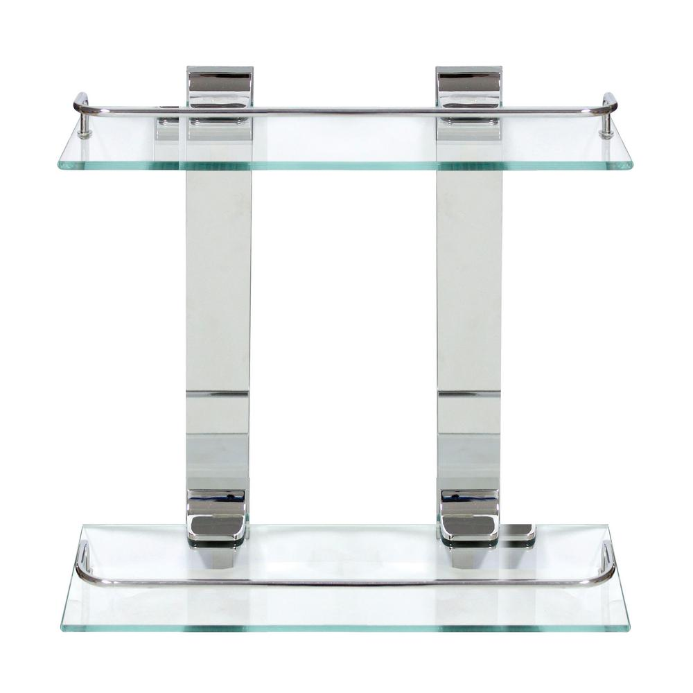 13.75 in. x 13.5 in. x 5 in. Double Glass Wall