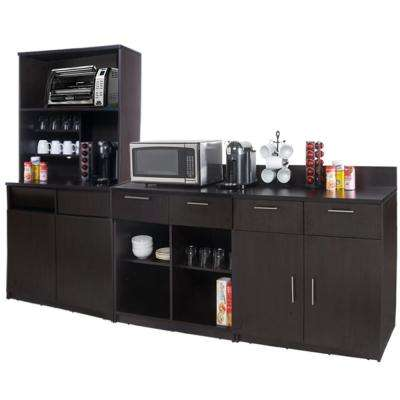 Coffee Kitchen Espresso Sideboard with Lunch Break Room Functionality with Assembled Commercial Grade 3391