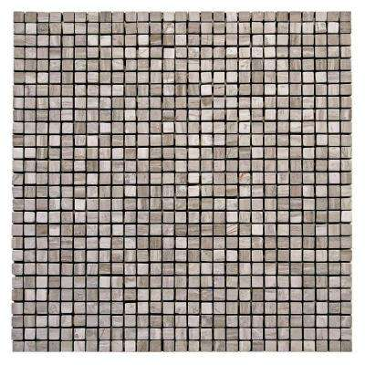 Haisa Marble Light Micro 12 in. x 12 in. x 6.35 mm Marble Mesh-Mounted Mosaic Wall Tile (10 sq. ft. / case)