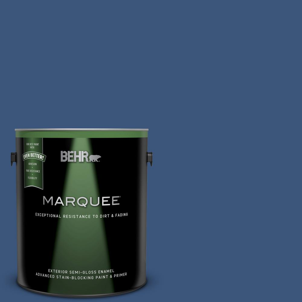 9cf5e27d2 BEHR MARQUEE 1 gal. #590D-7 Star Spangled Semi-Gloss Enamel Exterior Paint  and Primer in One