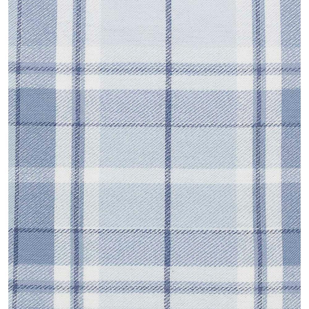Laura Ashley Mulholland 3 Piece Light Pastel Blue Plaid Flannel Twin Sheet Set Ushsa01065725 The Home Depot
