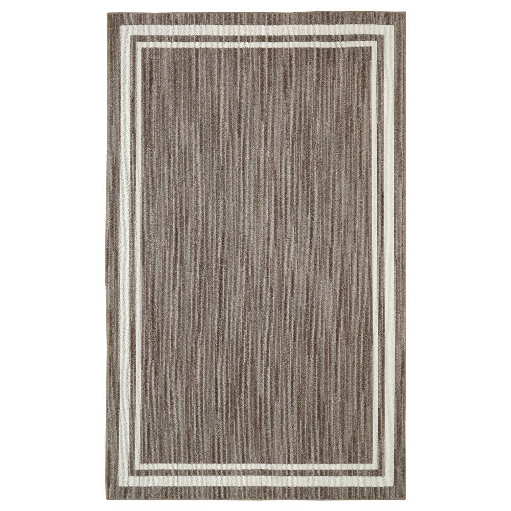 Border Loop Taupe Cream 4 Ft X 6 Ft Area Rug 517335