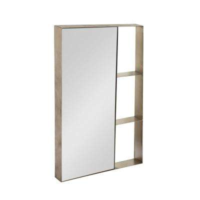 Zintel Rectangle Silver Accent Mirror