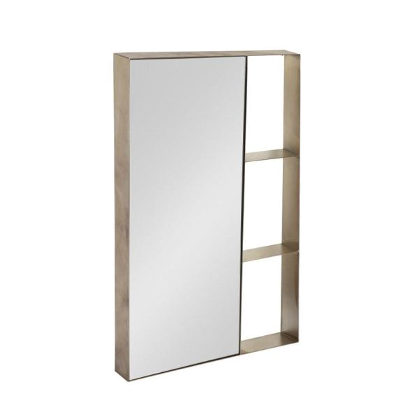 Kate and Laurel Zintel Rectangle Silver Accent Mirror 212842